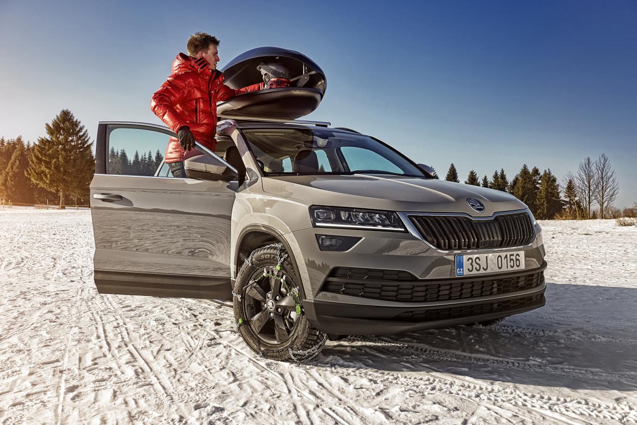 S vozy ŠKODA bezpečně a pohodlně na lyžařskou dovolenou